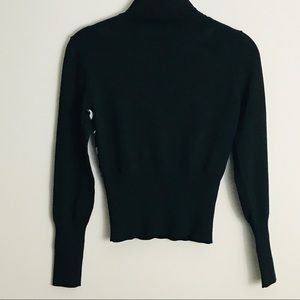 Black and White Turtle neck Sweater